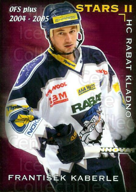 2004-05 Czech OFS Stars II #1 Frantisek Kaberle<br/>3 In Stock - $2.00 each - <a href=https://centericecollectibles.foxycart.com/cart?name=2004-05%20Czech%20OFS%20Stars%20II%20%231%20Frantisek%20Kaber...&quantity_max=3&price=$2.00&code=121703 class=foxycart> Buy it now! </a>