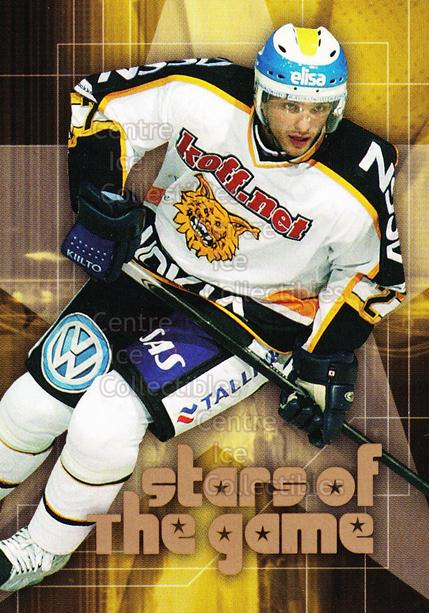 2004-05 Finnish Cardset Stars of the Game #12 Patrik Stefan<br/>7 In Stock - $3.00 each - <a href=https://centericecollectibles.foxycart.com/cart?name=2004-05%20Finnish%20Cardset%20Stars%20of%20the%20Game%20%2312%20Patrik%20Stefan...&quantity_max=7&price=$3.00&code=121977 class=foxycart> Buy it now! </a>