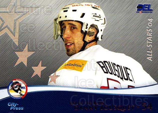 2004-05 German DEL AS #14 Danny Bousquet<br/>2 In Stock - $3.00 each - <a href=https://centericecollectibles.foxycart.com/cart?name=2004-05%20German%20DEL%20AS%20%2314%20Danny%20Bousquet...&quantity_max=2&price=$3.00&code=122167 class=foxycart> Buy it now! </a>