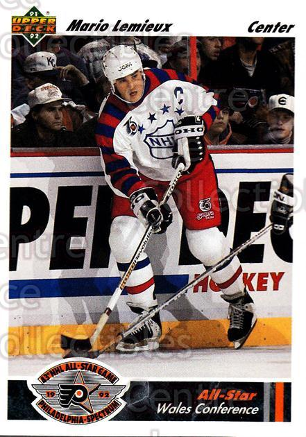 1991-92 Upper Deck #611 Mario Lemieux<br/>10 In Stock - $2.00 each - <a href=https://centericecollectibles.foxycart.com/cart?name=1991-92%20Upper%20Deck%20%23611%20Mario%20Lemieux...&price=$2.00&code=12229 class=foxycart> Buy it now! </a>