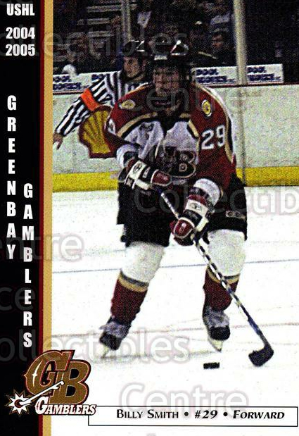2004-05 Green Bay Gamblers #17 Billy Smith (2)<br/>9 In Stock - $3.00 each - <a href=https://centericecollectibles.foxycart.com/cart?name=2004-05%20Green%20Bay%20Gamblers%20%2317%20Billy%20Smith%20(2)...&quantity_max=9&price=$3.00&code=122389 class=foxycart> Buy it now! </a>