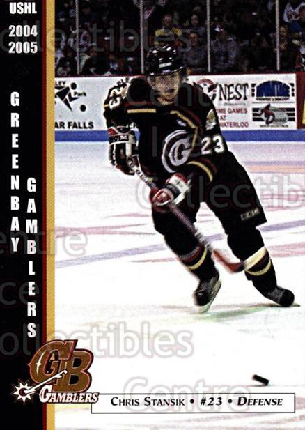 2004-05 Green Bay Gamblers #18 Chris Stansik<br/>9 In Stock - $3.00 each - <a href=https://centericecollectibles.foxycart.com/cart?name=2004-05%20Green%20Bay%20Gamblers%20%2318%20Chris%20Stansik...&quantity_max=9&price=$3.00&code=122390 class=foxycart> Buy it now! </a>