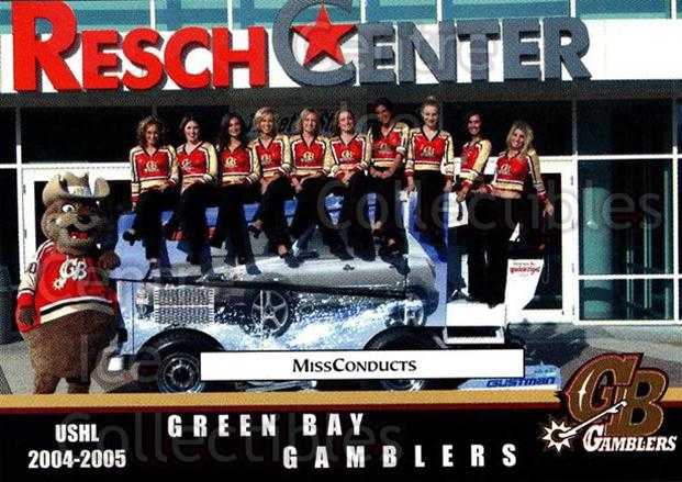 2004-05 Green Bay Gamblers #28 Cheerleaders<br/>7 In Stock - $3.00 each - <a href=https://centericecollectibles.foxycart.com/cart?name=2004-05%20Green%20Bay%20Gamblers%20%2328%20Cheerleaders...&quantity_max=7&price=$3.00&code=122395 class=foxycart> Buy it now! </a>