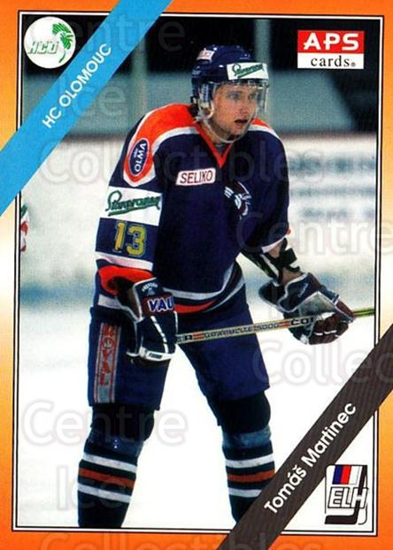 1994-95 Czech APS Extraliga #18 Tomas Martinec<br/>5 In Stock - $2.00 each - <a href=https://centericecollectibles.foxycart.com/cart?name=1994-95%20Czech%20APS%20Extraliga%20%2318%20Tomas%20Martinec...&quantity_max=5&price=$2.00&code=1223 class=foxycart> Buy it now! </a>