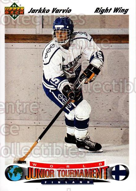 1991-92 Upper Deck #676 Jarkko Varvio<br/>7 In Stock - $1.00 each - <a href=https://centericecollectibles.foxycart.com/cart?name=1991-92%20Upper%20Deck%20%23676%20Jarkko%20Varvio...&price=$1.00&code=12260 class=foxycart> Buy it now! </a>