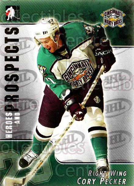 2004-05 ITG Heroes and Prospects #1 Cory Pecker<br/>14 In Stock - $1.00 each - <a href=https://centericecollectibles.foxycart.com/cart?name=2004-05%20ITG%20Heroes%20and%20Prospects%20%231%20Cory%20Pecker...&quantity_max=14&price=$1.00&code=122929 class=foxycart> Buy it now! </a>