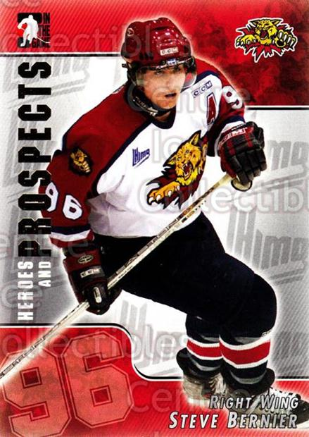 2004-05 ITG Heroes and Prospects #106 Steve Bernier<br/>17 In Stock - $1.00 each - <a href=https://centericecollectibles.foxycart.com/cart?name=2004-05%20ITG%20Heroes%20and%20Prospects%20%23106%20Steve%20Bernier...&quantity_max=17&price=$1.00&code=122935 class=foxycart> Buy it now! </a>