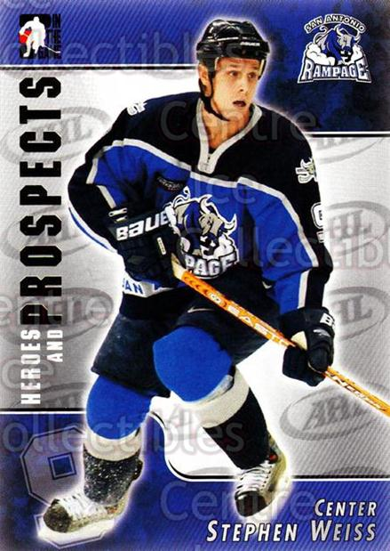 2004-05 ITG Heroes and Prospects #111 Stephen Weiss<br/>19 In Stock - $1.00 each - <a href=https://centericecollectibles.foxycart.com/cart?name=2004-05%20ITG%20Heroes%20and%20Prospects%20%23111%20Stephen%20Weiss...&quantity_max=19&price=$1.00&code=122940 class=foxycart> Buy it now! </a>