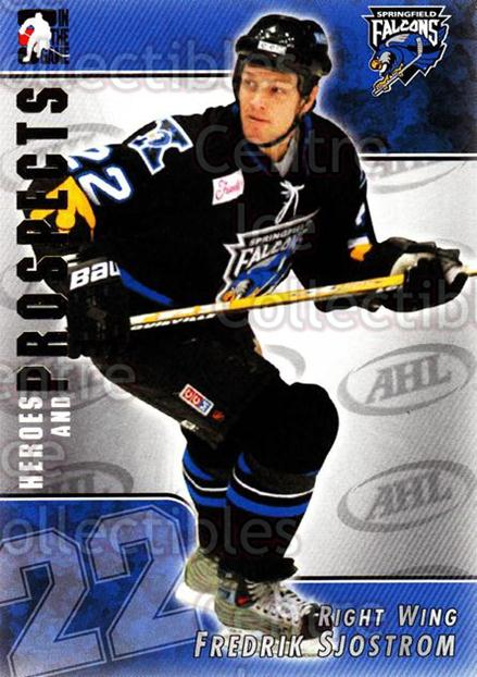 2004-05 ITG Heroes and Prospects #112 Fredrik Sjostrom<br/>17 In Stock - $1.00 each - <a href=https://centericecollectibles.foxycart.com/cart?name=2004-05%20ITG%20Heroes%20and%20Prospects%20%23112%20Fredrik%20Sjostro...&quantity_max=17&price=$1.00&code=122941 class=foxycart> Buy it now! </a>
