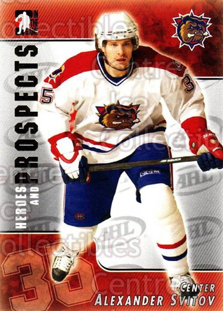 2004-05 ITG Heroes and Prospects #113 Alexander Svitov<br/>17 In Stock - $1.00 each - <a href=https://centericecollectibles.foxycart.com/cart?name=2004-05%20ITG%20Heroes%20and%20Prospects%20%23113%20Alexander%20Svito...&quantity_max=17&price=$1.00&code=122942 class=foxycart> Buy it now! </a>