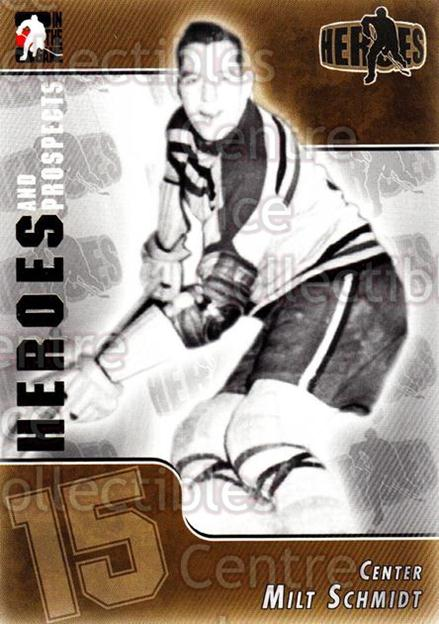 2004-05 ITG Heroes and Prospects #129 Milt Schmidt<br/>18 In Stock - $2.00 each - <a href=https://centericecollectibles.foxycart.com/cart?name=2004-05%20ITG%20Heroes%20and%20Prospects%20%23129%20Milt%20Schmidt...&quantity_max=18&price=$2.00&code=122952 class=foxycart> Buy it now! </a>