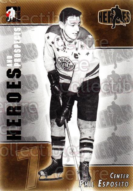 2004-05 ITG Heroes and Prospects #130 Phil Esposito<br/>20 In Stock - $2.00 each - <a href=https://centericecollectibles.foxycart.com/cart?name=2004-05%20ITG%20Heroes%20and%20Prospects%20%23130%20Phil%20Esposito...&quantity_max=20&price=$2.00&code=122954 class=foxycart> Buy it now! </a>