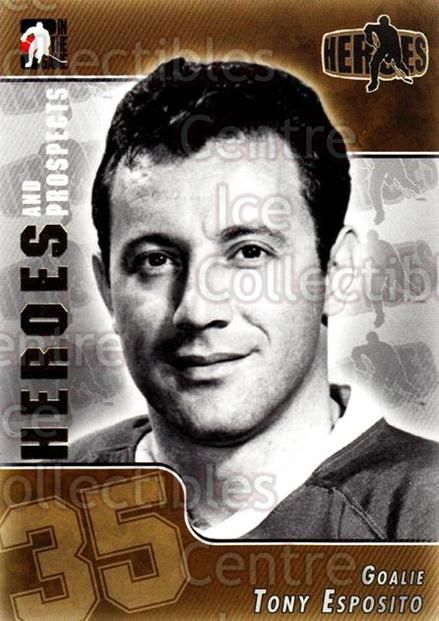 2004-05 ITG Heroes and Prospects #134 Tony Esposito<br/>18 In Stock - $2.00 each - <a href=https://centericecollectibles.foxycart.com/cart?name=2004-05%20ITG%20Heroes%20and%20Prospects%20%23134%20Tony%20Esposito...&quantity_max=18&price=$2.00&code=122958 class=foxycart> Buy it now! </a>