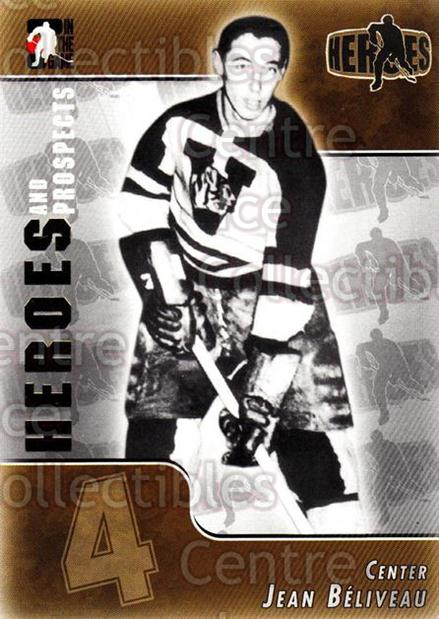 2004-05 ITG Heroes and Prospects #153 Jean Beliveau<br/>7 In Stock - $2.00 each - <a href=https://centericecollectibles.foxycart.com/cart?name=2004-05%20ITG%20Heroes%20and%20Prospects%20%23153%20Jean%20Beliveau...&quantity_max=7&price=$2.00&code=122979 class=foxycart> Buy it now! </a>