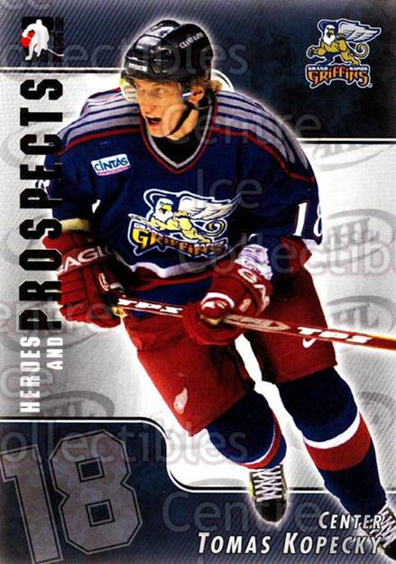2004-05 ITG Heroes and Prospects #18 Tomas Kopecky<br/>18 In Stock - $1.00 each - <a href=https://centericecollectibles.foxycart.com/cart?name=2004-05%20ITG%20Heroes%20and%20Prospects%20%2318%20Tomas%20Kopecky...&quantity_max=18&price=$1.00&code=123004 class=foxycart> Buy it now! </a>