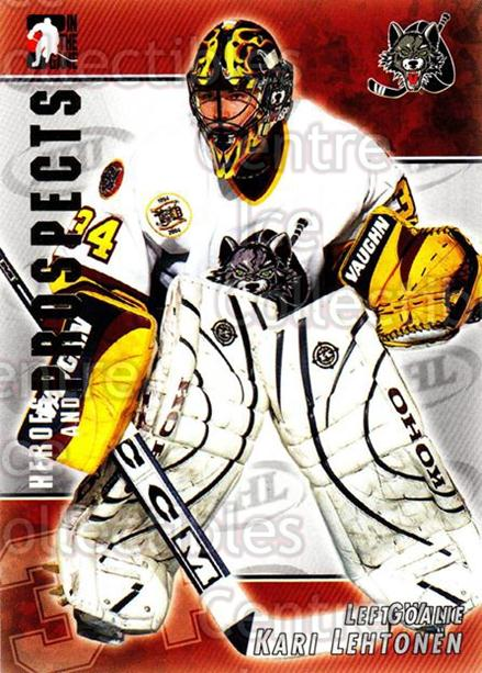 2004-05 ITG Heroes and Prospects #24 Kari Lehtonen<br/>42 In Stock - $1.00 each - <a href=https://centericecollectibles.foxycart.com/cart?name=2004-05%20ITG%20Heroes%20and%20Prospects%20%2324%20Kari%20Lehtonen...&quantity_max=42&price=$1.00&code=123011 class=foxycart> Buy it now! </a>