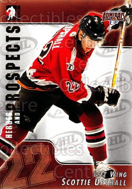 2004-05 ITG Heroes and Prospects #26 Scottie Upshall<br/>18 In Stock - $1.00 each - <a href=https://centericecollectibles.foxycart.com/cart?name=2004-05%20ITG%20Heroes%20and%20Prospects%20%2326%20Scottie%20Upshall...&quantity_max=18&price=$1.00&code=123013 class=foxycart> Buy it now! </a>