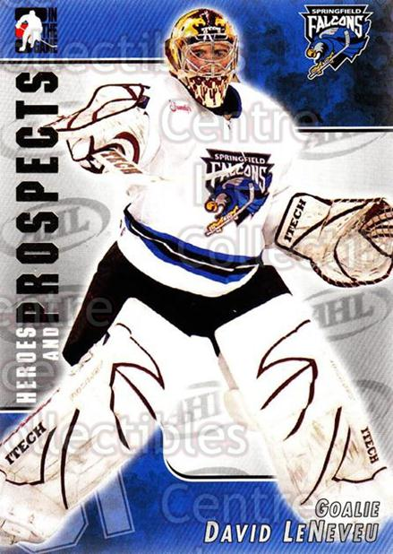 2004-05 ITG Heroes and Prospects #27 David Leneveu<br/>16 In Stock - $1.00 each - <a href=https://centericecollectibles.foxycart.com/cart?name=2004-05%20ITG%20Heroes%20and%20Prospects%20%2327%20David%20Leneveu...&quantity_max=16&price=$1.00&code=123014 class=foxycart> Buy it now! </a>