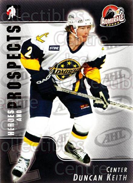 2004-05 ITG Heroes and Prospects #3 Duncan Keith<br/>13 In Stock - $2.00 each - <a href=https://centericecollectibles.foxycart.com/cart?name=2004-05%20ITG%20Heroes%20and%20Prospects%20%233%20Duncan%20Keith...&quantity_max=13&price=$2.00&code=123017 class=foxycart> Buy it now! </a>