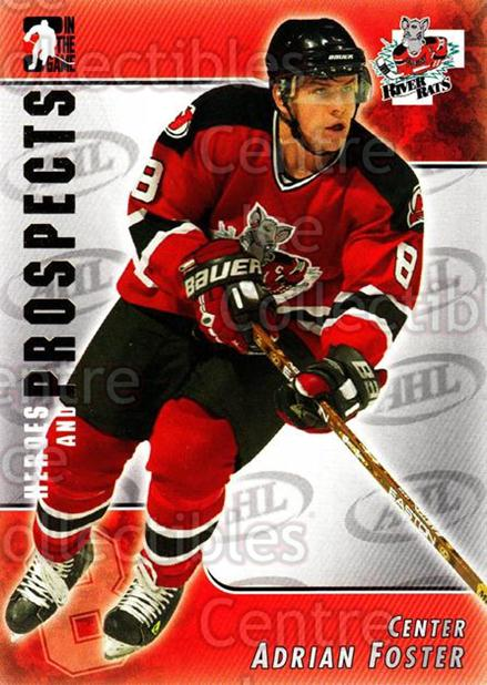 2004-05 ITG Heroes and Prospects #31 Adrian Foster<br/>14 In Stock - $1.00 each - <a href=https://centericecollectibles.foxycart.com/cart?name=2004-05%20ITG%20Heroes%20and%20Prospects%20%2331%20Adrian%20Foster...&quantity_max=14&price=$1.00&code=123019 class=foxycart> Buy it now! </a>