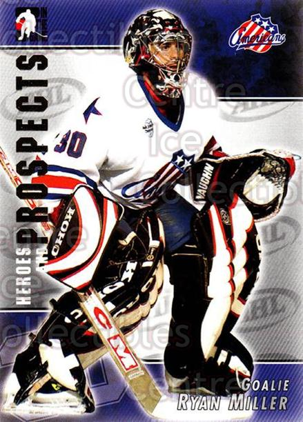 2004-05 ITG Heroes and Prospects #38 Ryan Miller<br/>17 In Stock - $1.00 each - <a href=https://centericecollectibles.foxycart.com/cart?name=2004-05%20ITG%20Heroes%20and%20Prospects%20%2338%20Ryan%20Miller...&quantity_max=17&price=$1.00&code=123025 class=foxycart> Buy it now! </a>