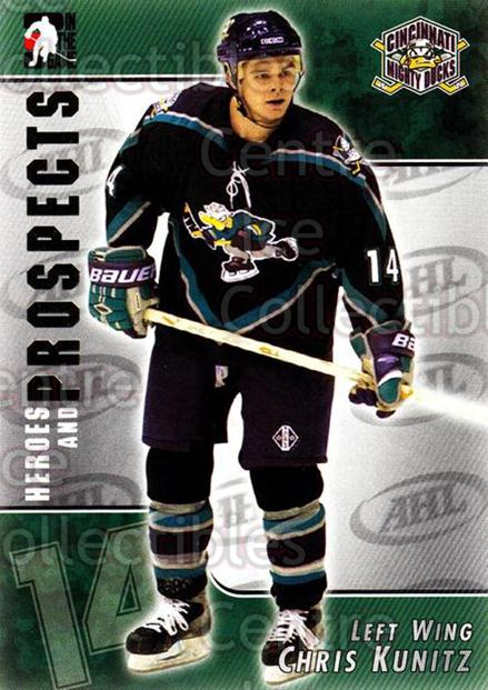 2004-05 ITG Heroes and Prospects #40 Chris Kunitz<br/>15 In Stock - $1.00 each - <a href=https://centericecollectibles.foxycart.com/cart?name=2004-05%20ITG%20Heroes%20and%20Prospects%20%2340%20Chris%20Kunitz...&quantity_max=15&price=$1.00&code=123028 class=foxycart> Buy it now! </a>