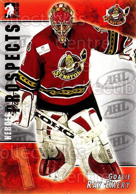 2004-05 ITG Heroes and Prospects #45 Ray Emery<br/>15 In Stock - $1.00 each - <a href=https://centericecollectibles.foxycart.com/cart?name=2004-05%20ITG%20Heroes%20and%20Prospects%20%2345%20Ray%20Emery...&quantity_max=15&price=$1.00&code=123033 class=foxycart> Buy it now! </a>