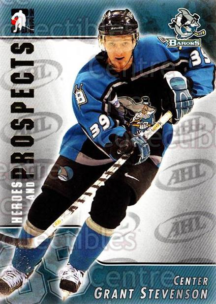 2004-05 ITG Heroes and Prospects #50 Grant Stevenson<br/>18 In Stock - $1.00 each - <a href=https://centericecollectibles.foxycart.com/cart?name=2004-05%20ITG%20Heroes%20and%20Prospects%20%2350%20Grant%20Stevenson...&quantity_max=18&price=$1.00&code=123038 class=foxycart> Buy it now! </a>