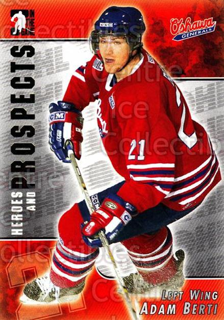 2004-05 ITG Heroes and Prospects #51 Adam Berti<br/>16 In Stock - $1.00 each - <a href=https://centericecollectibles.foxycart.com/cart?name=2004-05%20ITG%20Heroes%20and%20Prospects%20%2351%20Adam%20Berti...&quantity_max=16&price=$1.00&code=123039 class=foxycart> Buy it now! </a>