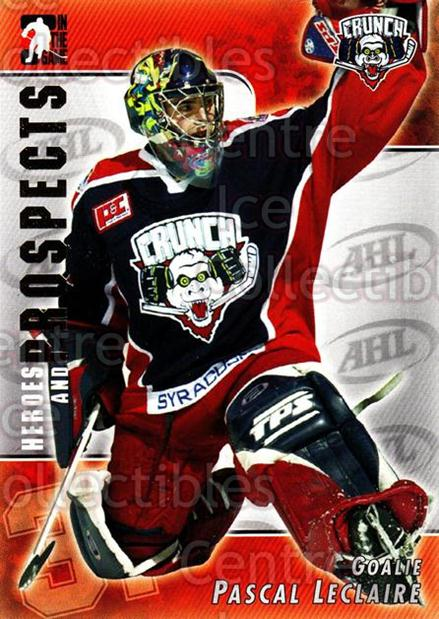 2004-05 ITG Heroes and Prospects #7 Pascal Leclaire<br/>21 In Stock - $1.00 each - <a href=https://centericecollectibles.foxycart.com/cart?name=2004-05%20ITG%20Heroes%20and%20Prospects%20%237%20Pascal%20Leclaire...&quantity_max=21&price=$1.00&code=123056 class=foxycart> Buy it now! </a>