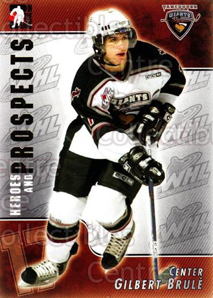 2004-05 ITG Heroes and Prospects #76 Gilbert Brule<br/>18 In Stock - $1.00 each - <a href=https://centericecollectibles.foxycart.com/cart?name=2004-05%20ITG%20Heroes%20and%20Prospects%20%2376%20Gilbert%20Brule...&quantity_max=18&price=$1.00&code=123063 class=foxycart> Buy it now! </a>