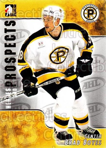 2004-05 ITG Heroes and Prospects #8 Brad Boyes<br/>17 In Stock - $1.00 each - <a href=https://centericecollectibles.foxycart.com/cart?name=2004-05%20ITG%20Heroes%20and%20Prospects%20%238%20Brad%20Boyes...&quantity_max=17&price=$1.00&code=123065 class=foxycart> Buy it now! </a>