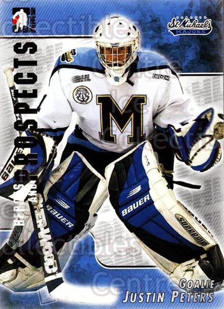 2004-05 ITG Heroes and Prospects #84 Justin Peters<br/>13 In Stock - $1.00 each - <a href=https://centericecollectibles.foxycart.com/cart?name=2004-05%20ITG%20Heroes%20and%20Prospects%20%2384%20Justin%20Peters...&quantity_max=13&price=$1.00&code=123070 class=foxycart> Buy it now! </a>