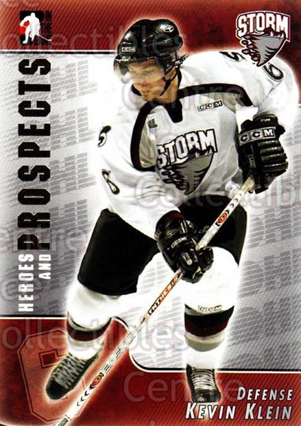 2004-05 ITG Heroes and Prospects #86 Kevin Klein<br/>17 In Stock - $1.00 each - <a href=https://centericecollectibles.foxycart.com/cart?name=2004-05%20ITG%20Heroes%20and%20Prospects%20%2386%20Kevin%20Klein...&quantity_max=17&price=$1.00&code=123072 class=foxycart> Buy it now! </a>