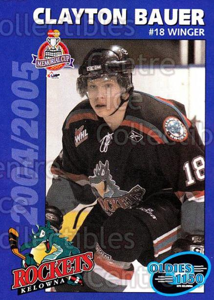 2004-05 Kelowna Rockets #25 Clayton Bauer<br/>4 In Stock - $3.00 each - <a href=https://centericecollectibles.foxycart.com/cart?name=2004-05%20Kelowna%20Rockets%20%2325%20Clayton%20Bauer...&quantity_max=4&price=$3.00&code=123095 class=foxycart> Buy it now! </a>