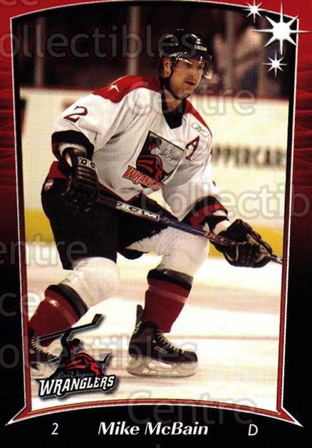 2004-05 Las Vegas Wranglers #1 Mike McBain<br/>3 In Stock - $3.00 each - <a href=https://centericecollectibles.foxycart.com/cart?name=2004-05%20Las%20Vegas%20Wranglers%20%231%20Mike%20McBain...&quantity_max=3&price=$3.00&code=123142 class=foxycart> Buy it now! </a>