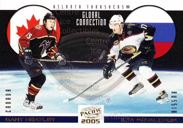 2004-05 Pacific Global Connection #1 Dany Heatley, Ilya Kovalchuk<br/>6 In Stock - $2.00 each - <a href=https://centericecollectibles.foxycart.com/cart?name=2004-05%20Pacific%20Global%20Connection%20%231%20Dany%20Heatley,%20I...&quantity_max=6&price=$2.00&code=123343 class=foxycart> Buy it now! </a>
