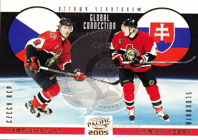 2004-05 Pacific Global Connection #7 Martin Havlat, Marian Hossa<br/>4 In Stock - $2.00 each - <a href=https://centericecollectibles.foxycart.com/cart?name=2004-05%20Pacific%20Global%20Connection%20%237%20Martin%20Havlat,%20...&quantity_max=4&price=$2.00&code=123346 class=foxycart> Buy it now! </a>