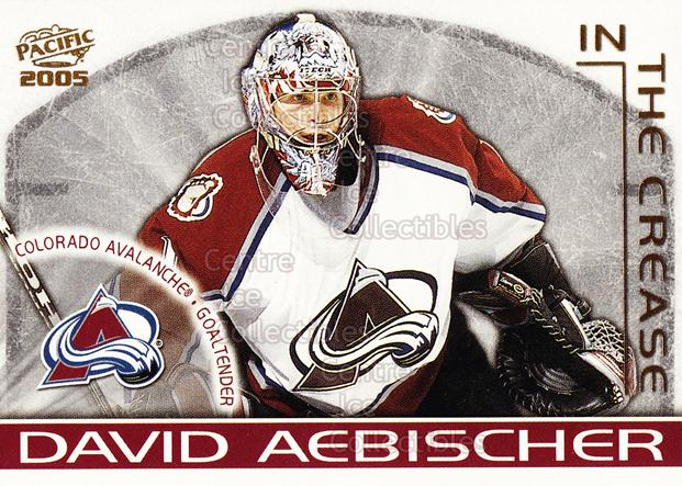 2004-05 Pacific In The Crease #3 David Aebischer<br/>2 In Stock - $3.00 each - <a href=https://centericecollectibles.foxycart.com/cart?name=2004-05%20Pacific%20In%20The%20Crease%20%233%20David%20Aebischer...&quantity_max=2&price=$3.00&code=123352 class=foxycart> Buy it now! </a>