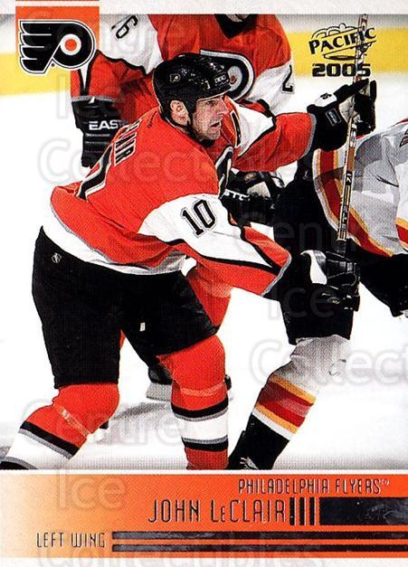 2004-05 Pacific #195 John LeClair<br/>3 In Stock - $1.00 each - <a href=https://centericecollectibles.foxycart.com/cart?name=2004-05%20Pacific%20%23195%20John%20LeClair...&quantity_max=3&price=$1.00&code=123386 class=foxycart> Buy it now! </a>