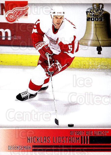 2004-05 Pacific #97 Nicklas Lidstrom<br/>2 In Stock - $1.00 each - <a href=https://centericecollectibles.foxycart.com/cart?name=2004-05%20Pacific%20%2397%20Nicklas%20Lidstro...&quantity_max=2&price=$1.00&code=123413 class=foxycart> Buy it now! </a>