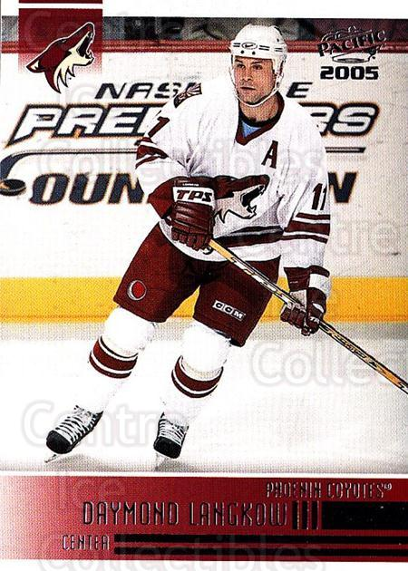 2004-05 Pacific #202 Daymond Langkow<br/>5 In Stock - $1.00 each - <a href=https://centericecollectibles.foxycart.com/cart?name=2004-05%20Pacific%20%23202%20Daymond%20Langkow...&quantity_max=5&price=$1.00&code=123624 class=foxycart> Buy it now! </a>