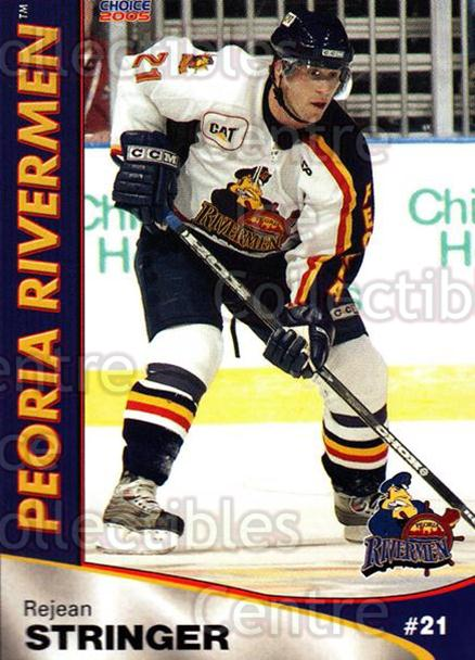 2004-05 Peoria Rivermen #22 Rejean Stringer<br/>9 In Stock - $3.00 each - <a href=https://centericecollectibles.foxycart.com/cart?name=2004-05%20Peoria%20Rivermen%20%2322%20Rejean%20Stringer...&price=$3.00&code=123653 class=foxycart> Buy it now! </a>