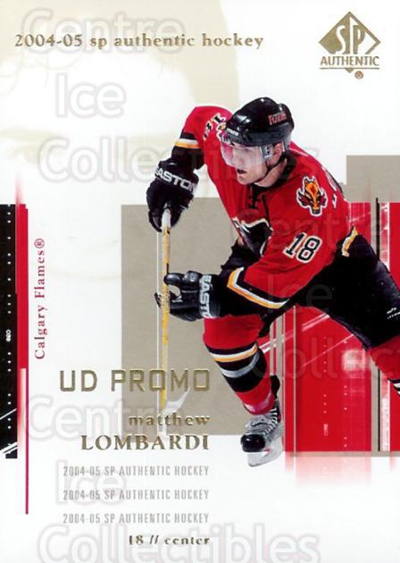 2004-05 SP Authentic UD Promos #15 Matthew Lombardi<br/>2 In Stock - $3.00 each - <a href=https://centericecollectibles.foxycart.com/cart?name=2004-05%20SP%20Authentic%20UD%20Promos%20%2315%20Matthew%20Lombard...&quantity_max=2&price=$3.00&code=123780 class=foxycart> Buy it now! </a>