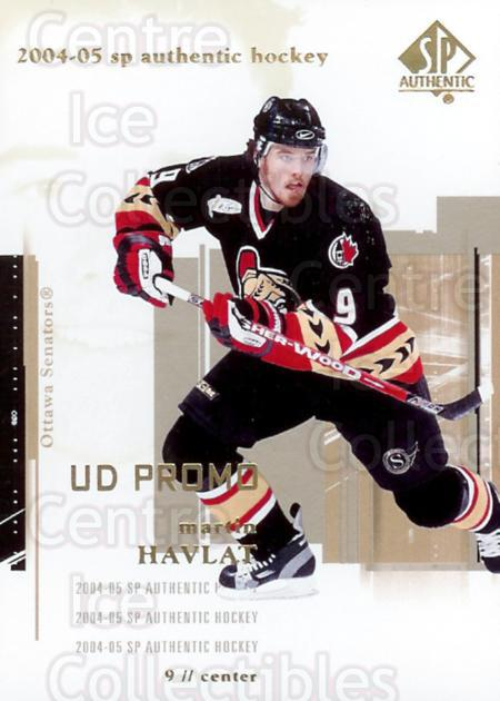 2004-05 SP Authentic UD Promos #63 Martin Havlat<br/>4 In Stock - $3.00 each - <a href=https://centericecollectibles.foxycart.com/cart?name=2004-05%20SP%20Authentic%20UD%20Promos%20%2363%20Martin%20Havlat...&quantity_max=4&price=$3.00&code=123827 class=foxycart> Buy it now! </a>