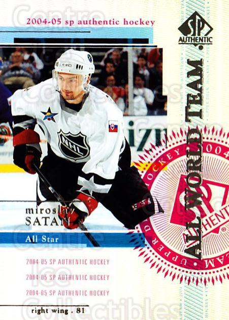 2004-05 SP Authentic #102 Miroslav Satan<br/>11 In Stock - $2.00 each - <a href=https://centericecollectibles.foxycart.com/cart?name=2004-05%20SP%20Authentic%20%23102%20Miroslav%20Satan...&quantity_max=11&price=$2.00&code=123859 class=foxycart> Buy it now! </a>