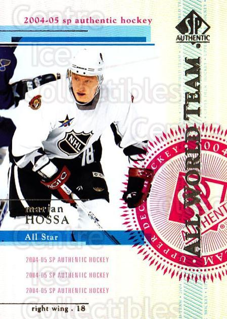 2004-05 SP Authentic #131 Marian Hossa<br/>12 In Stock - $2.00 each - <a href=https://centericecollectibles.foxycart.com/cart?name=2004-05%20SP%20Authentic%20%23131%20Marian%20Hossa...&quantity_max=12&price=$2.00&code=123891 class=foxycart> Buy it now! </a>