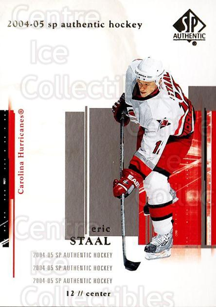 2004-05 SP Authentic #17 Eric Staal<br/>6 In Stock - $1.00 each - <a href=https://centericecollectibles.foxycart.com/cart?name=2004-05%20SP%20Authentic%20%2317%20Eric%20Staal...&quantity_max=6&price=$1.00&code=123914 class=foxycart> Buy it now! </a>