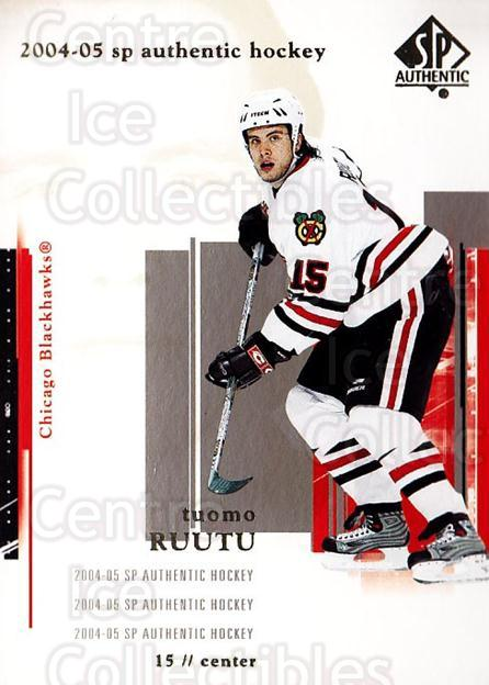 2004-05 SP Authentic #20 Tuomo Ruutu<br/>6 In Stock - $1.00 each - <a href=https://centericecollectibles.foxycart.com/cart?name=2004-05%20SP%20Authentic%20%2320%20Tuomo%20Ruutu...&quantity_max=6&price=$1.00&code=123918 class=foxycart> Buy it now! </a>