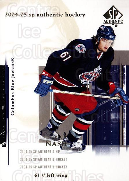 2004-05 SP Authentic #26 Rick Nash<br/>6 In Stock - $1.00 each - <a href=https://centericecollectibles.foxycart.com/cart?name=2004-05%20SP%20Authentic%20%2326%20Rick%20Nash...&quantity_max=6&price=$1.00&code=123923 class=foxycart> Buy it now! </a>